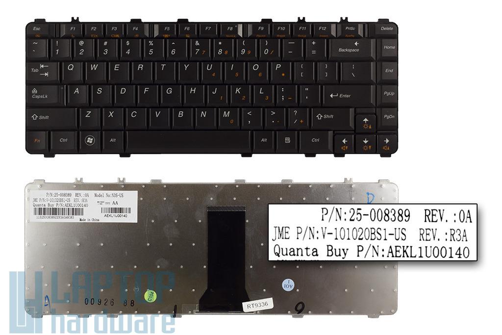 Lenovo IdeaPad Y450, Y460, Y550, Y560 gyári új fekete US angol laptop billentyűzet (25-008389)