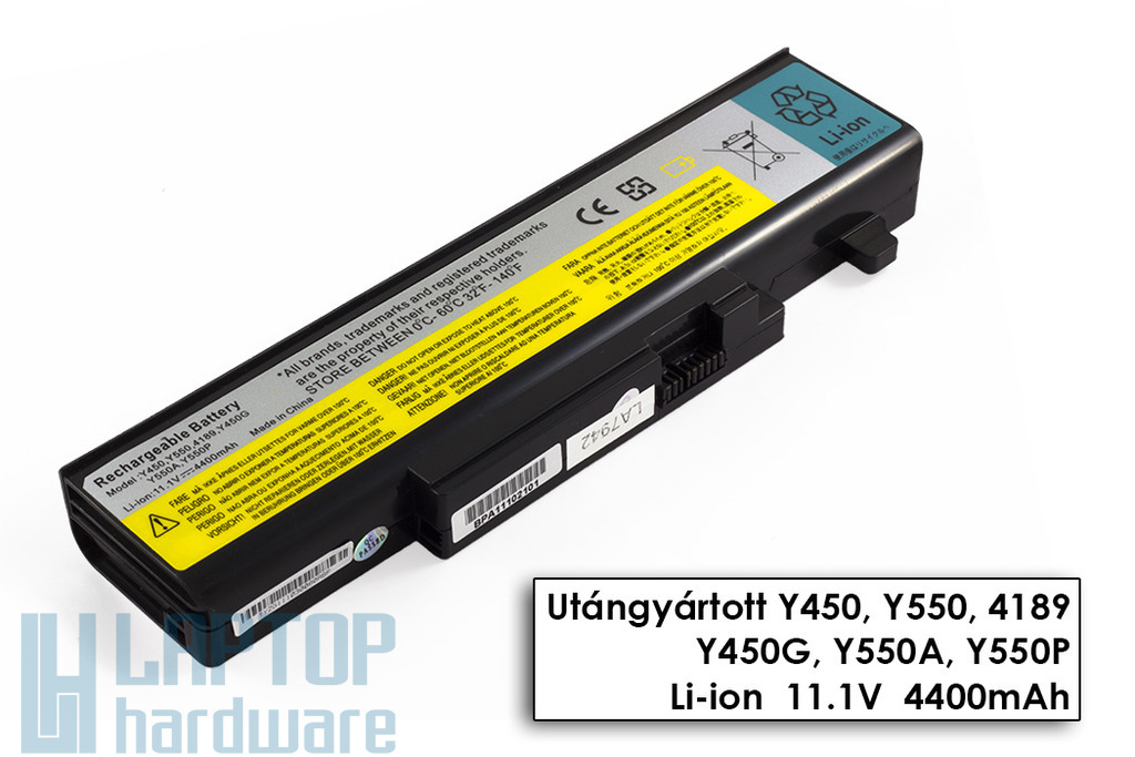 Lenovo IdeaPad Y450, Y550 helyettesítő új 6 cellás laptop akku/akkumulátor  55Y2054