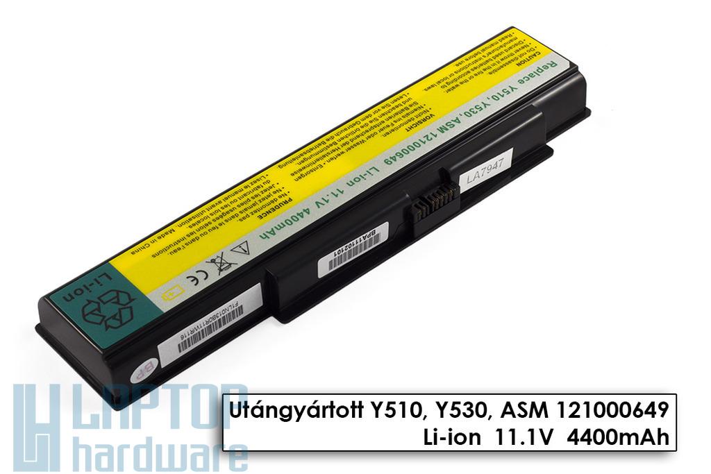 Lenovo IdeaPad Y510, Y530, Y710, Y730 helyettesítő új 6 cellás laptop akku/akkumulátor (FRU 121TS0A0A)