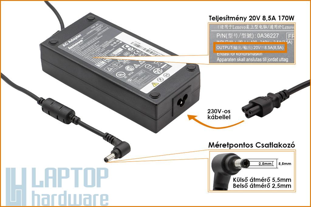 Lenovo IdeaPad Y510p 20V 8.5A 170W gyári új laptop töltő (36200401)