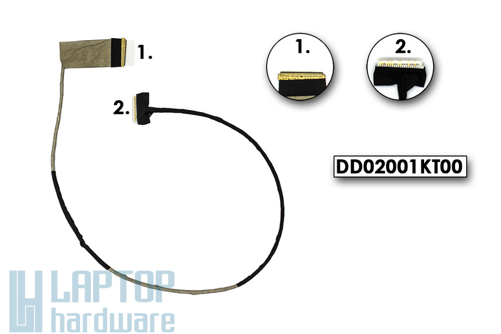 Lenovo IdeaPad Y510P laptophoz gyári új LCD kábel (DD02001KT00)