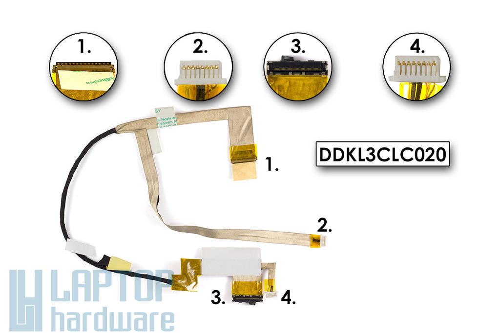 Lenovo IdeaPad Y560 laptophoz gyári új KL3C típusú LCD kábel (DDKL3CLC020)
