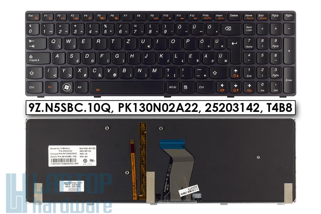 Lenovo Ideapad Y580 gyári új magyar háttér-világitásos laptop billentyűzet, 9Z.N5SBC.10Q