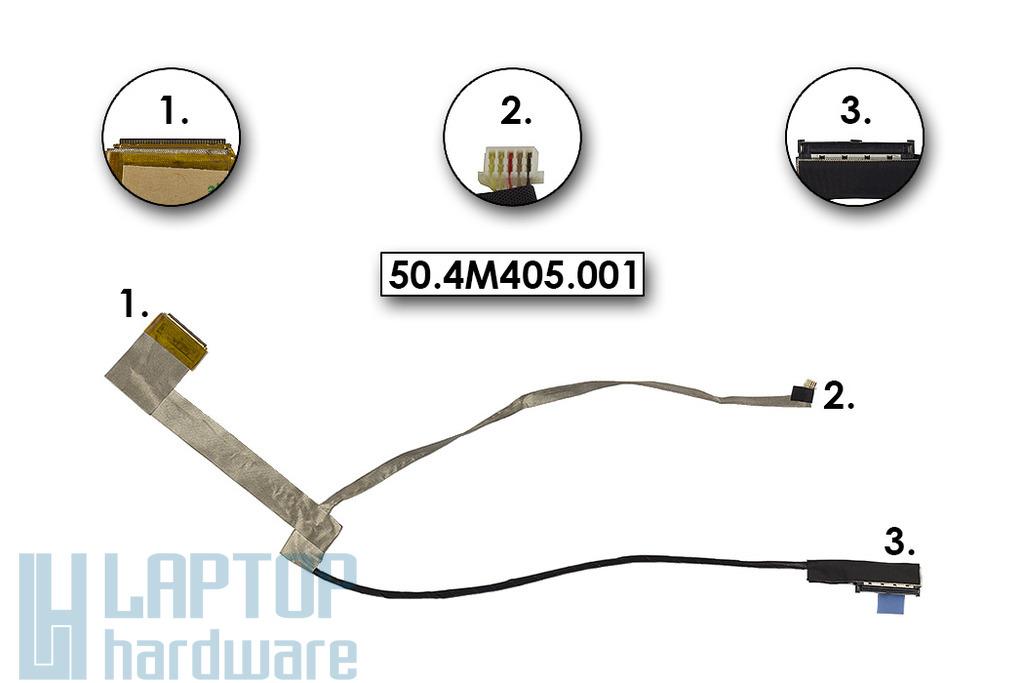 Lenovo IdeaPad Z570, Z575 gyári új laptop kijelző LCD kábel (50.4M405.001)