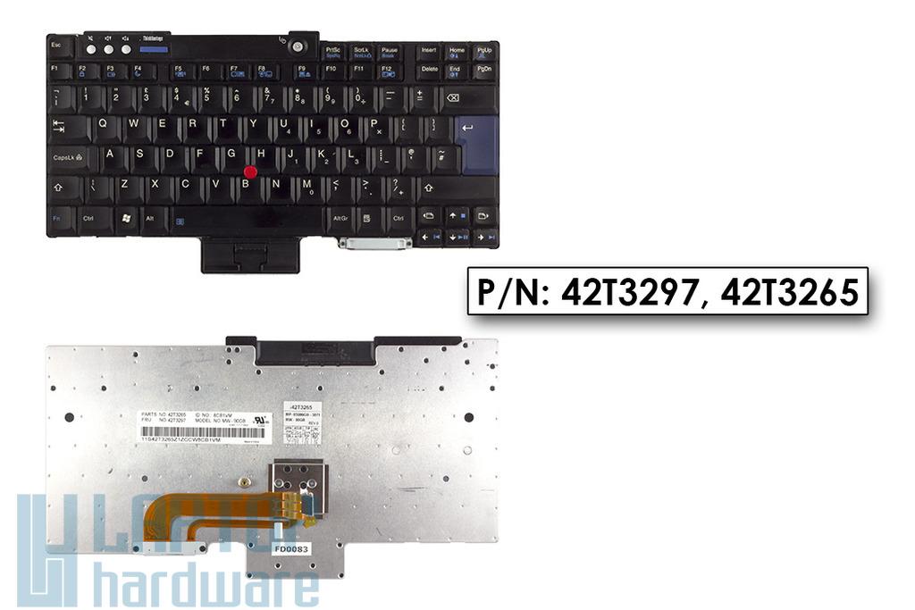 Lenovo R400, T400 UK angol laptop billentyűzet, 42T3297, 42T3265