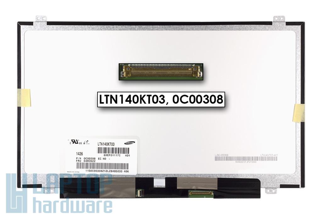 Gyári új matt HD+ (1600x900) Slim LED kijelző Lenovo T420, T420s, T430s laptophoz