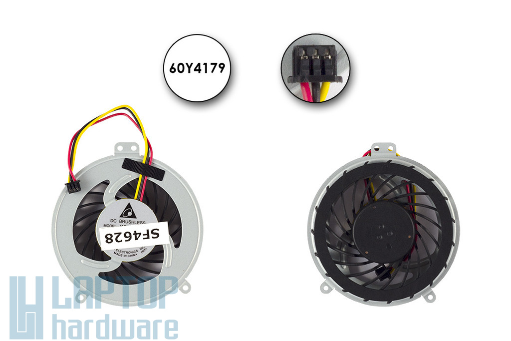 Lenovo ThinkPad E40, E50, SL410, SL510 gyári új hűtő ventilátor, 60Y4179 (integrated)