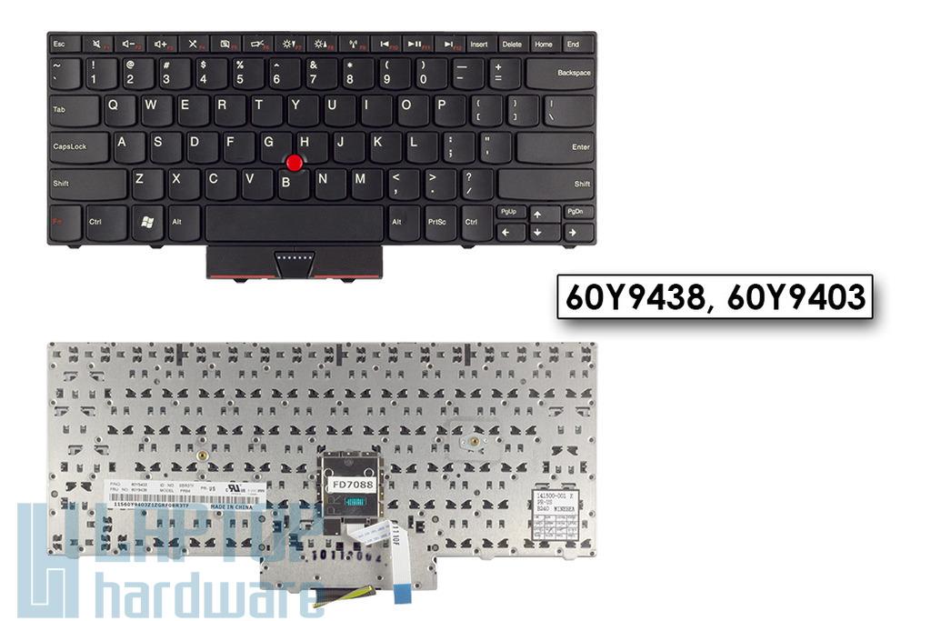 Lenovo ThinkPad Edge 13, E30 gyári új US angol laptop billentyűzet (60Y9438)