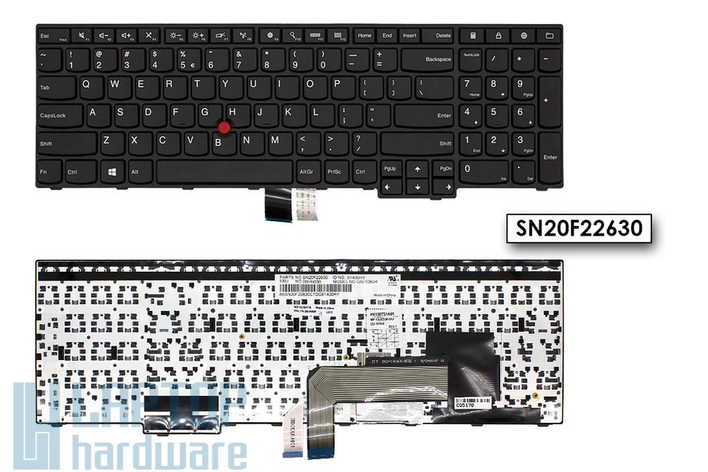 Lenovo ThinkPad Edge E550, E550C, E555 gyári új US angol laptop billentyűzet (00HN030, PK130TS1A01)