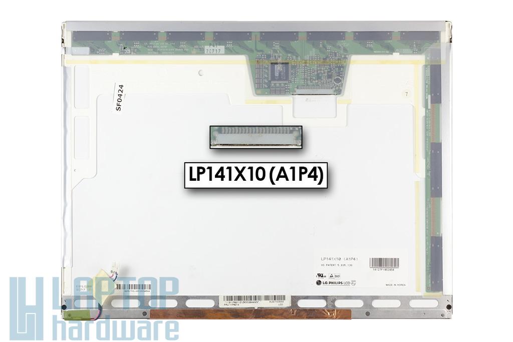 LG LP141X10-A1P4 1024x768 használt matt kijelző Lenovo ThinkPad R30, R31 laptopokhoz.