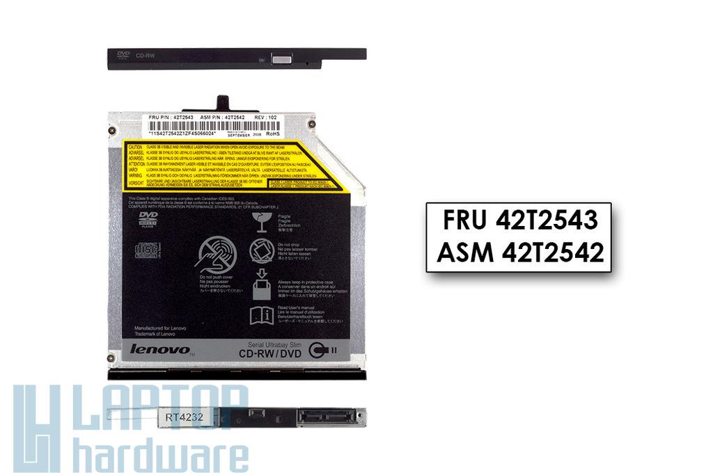 Lenovo ThinkPad R400, R500, T400, T500 laptophoz használt DVD olvasó CD író combo (FRU 42T2543)