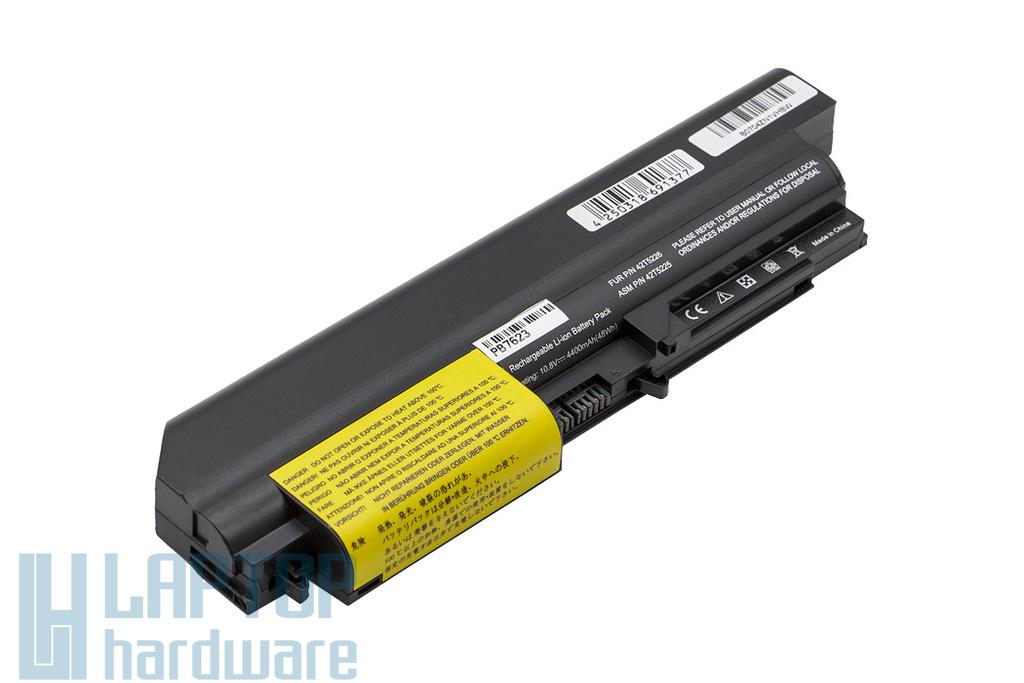 Lenovo ThinkPad R400, R61, T400, T61 14 inch Wide Screen helyettesítő új 6 cellás laptop akku/akkumulátor (FRU 42T4652)