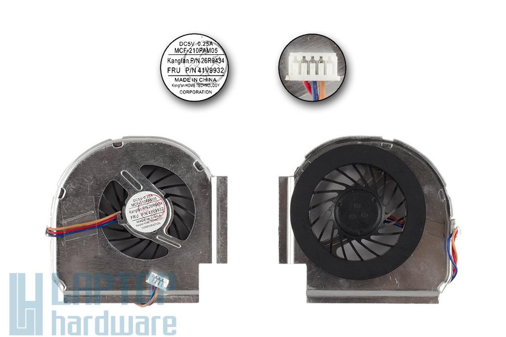 Lenovo ThinkPad T400 laptophoz gyári új laptop hűtő ventilátor, 41V9932