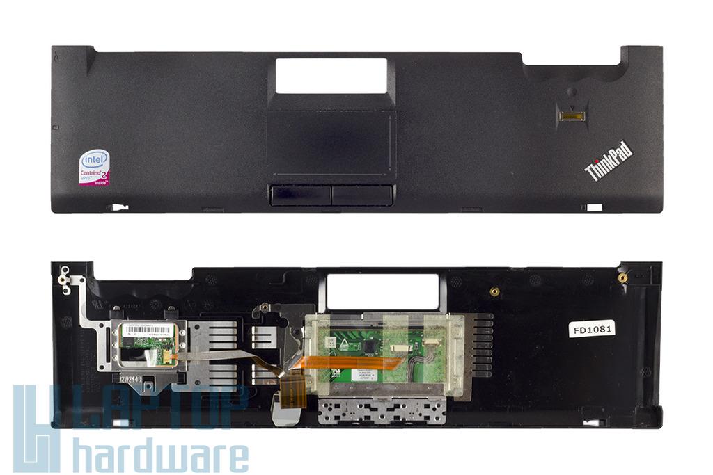Lenovo ThinkPad T400 laptophoz használt palm rest, felső fedél touchpaddal és ujjlenyomat olvasóval, 42X4847