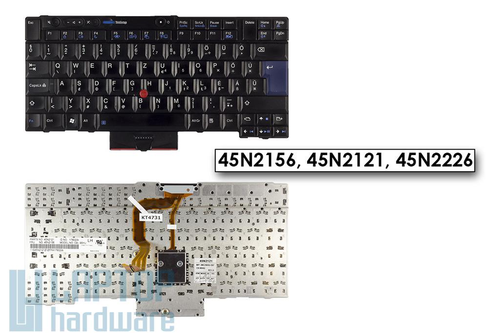 Lenovo ThinkPad T400s, T410, X220 használt magyar laptop billentyűzet (45N2226)