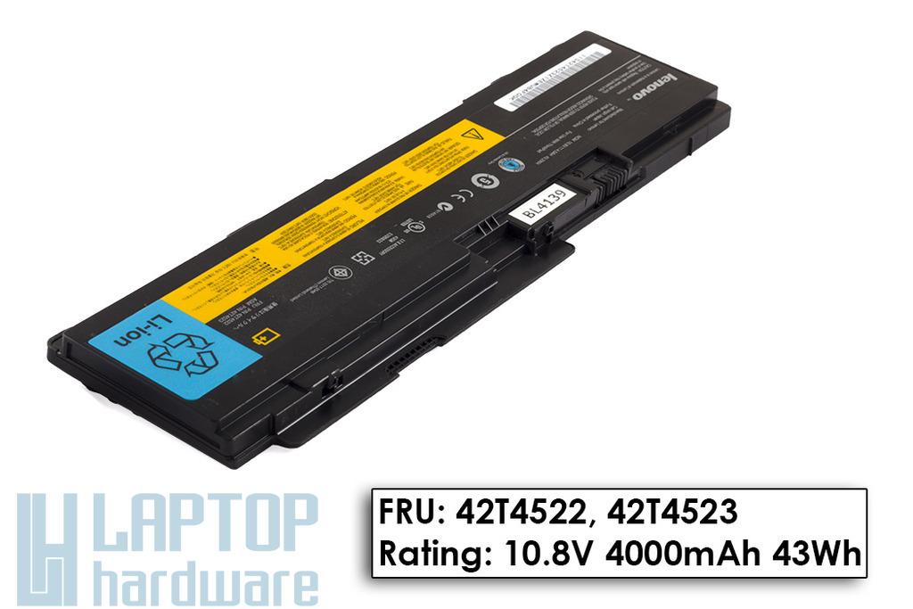 Lenovo ThinkPad T300s, T300s használt gyári 45%-os 6 cellás akku/akkumulátor (FRU 42T4522)