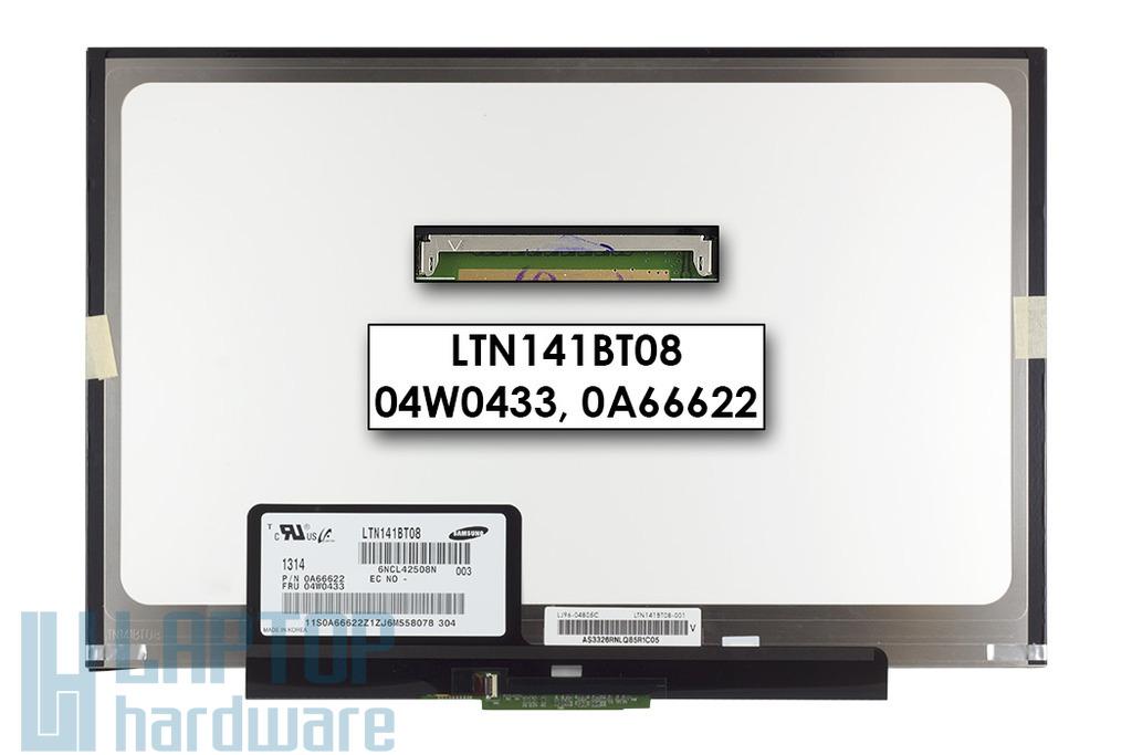 Gyári új matt 14.1'' (1440x900) LED SLIM kijelző Lenovo ThinkPad T410 laptopokhoz (csatlakozó: 40 pin - elől)