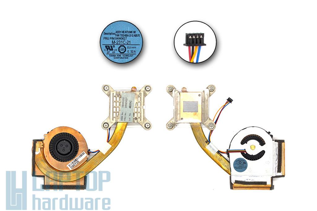 Lenovo ThinkPad T420, T420i gyári új komplett hűtőegység (M-231C-21, 04W0627)