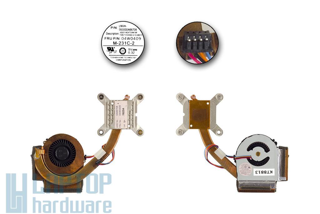 Lenovo ThinkPad T420, T420i használt komplett hűtőegység (4W0409)