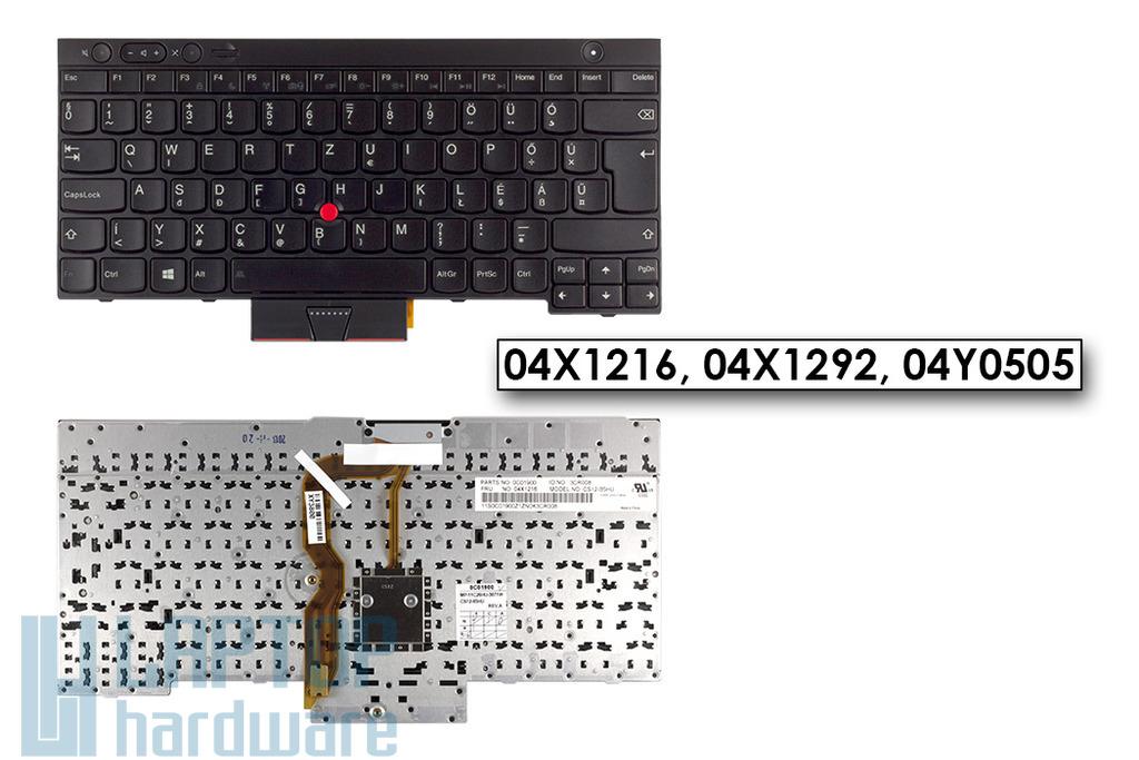 Lenovo ThinkPad T430, T530, W530, X230 gyári új magyar laptop billentyűzet (04X1216)