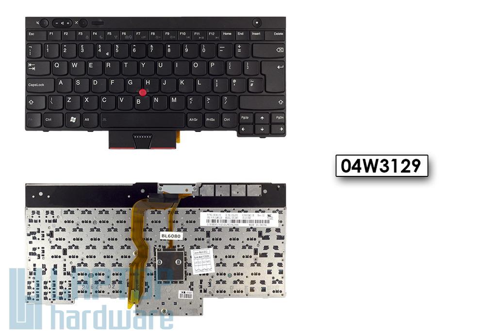 Lenovo ThinkPad T430, T530, W530, X230 gyári új UK angol laptop billentyűzet (04W3129)