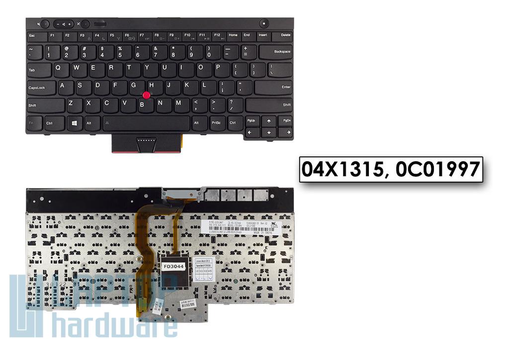 Lenovo ThinkPad T430, T530, W530, X230 gyári új US angol laptop billentyűzet (04X1315)