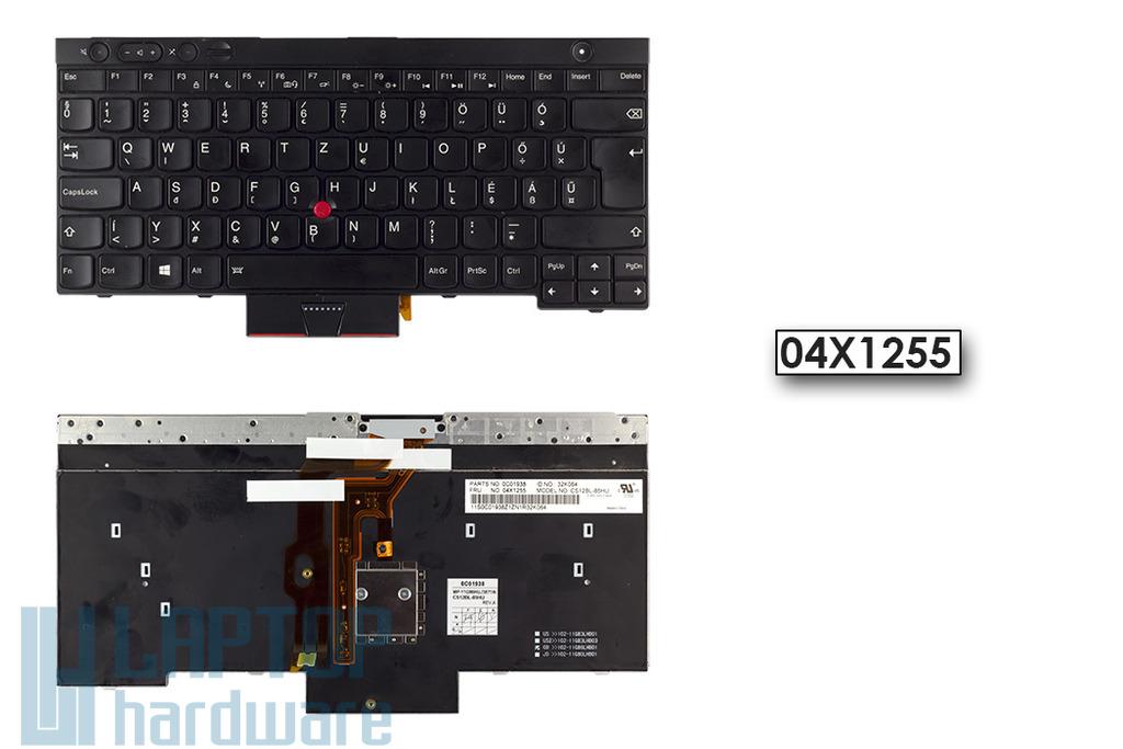 Lenovo ThinkPad T430, X230 használt magyar háttér-világításos laptop billentyűzet, 04X1255