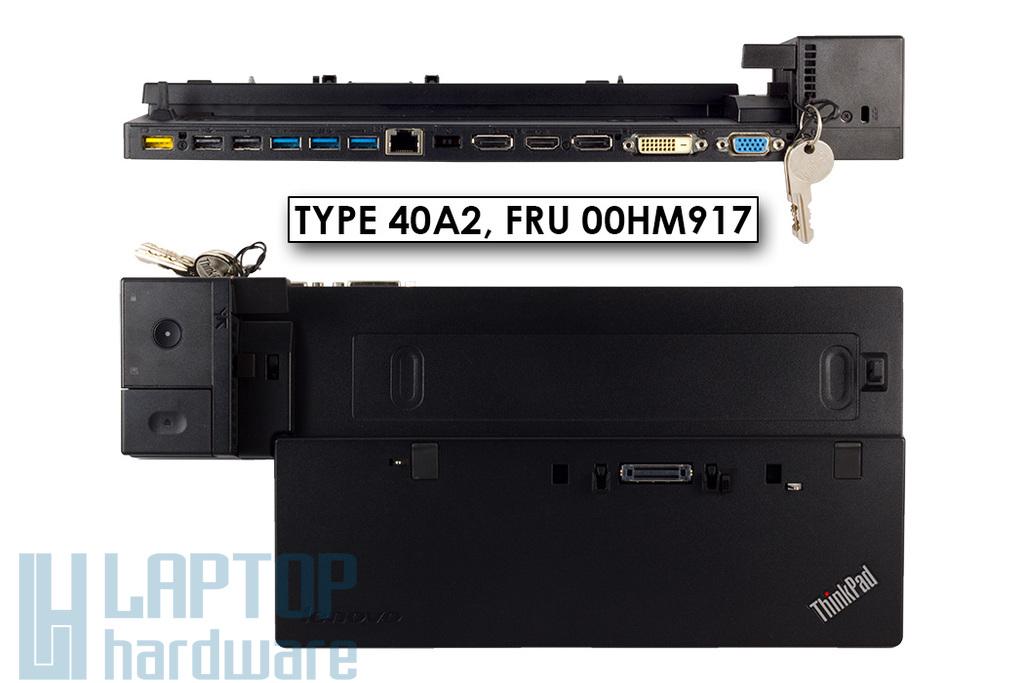 Lenovo ThinkPad T440, T540p laptophoz gyári új ThinkPad Ultra Dock (Type 40A2) dokkoló (00HM917)