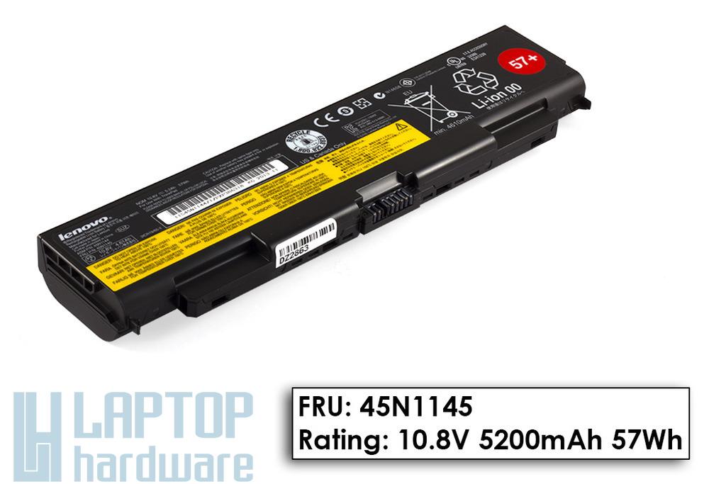 Lenovo ThinkPad T440p, T540p, W540 gyári új 6 cellás laptop akku/akkumulátor (FRU 45N1145)