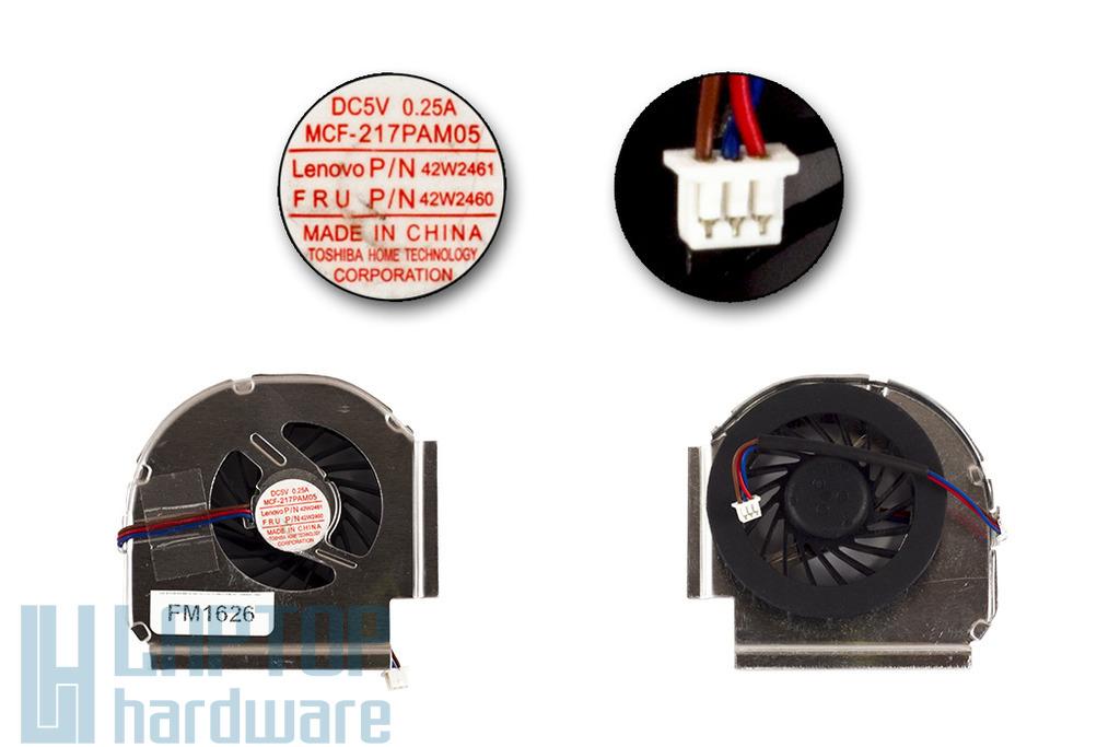 Lenovo ThinkPad T500, W500 gyári új laptop hűtő ventilátor, FRU 42W2460