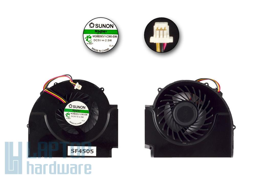 Lenovo ThinkPad T510, W510 laptophoz gyári új hűtő ventilátor, 2 air out, MG60090V1-C060-S99