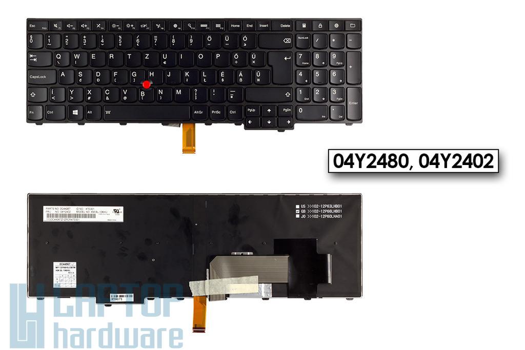 Lenovo ThinkPad T540, T540P, W540 gyári új magyar háttér-világításos laptop billentyűzet (04Y2480)