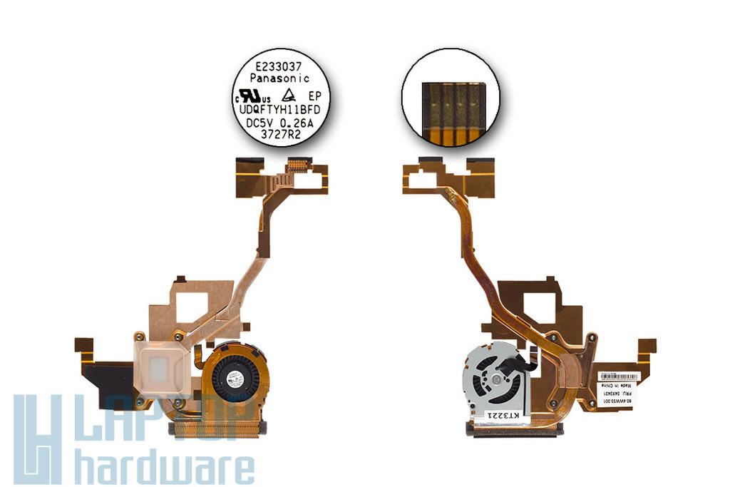 Lenovo ThinkPad X1 Helix gyári új tablet hűtő ventilátor egység (04X0431)