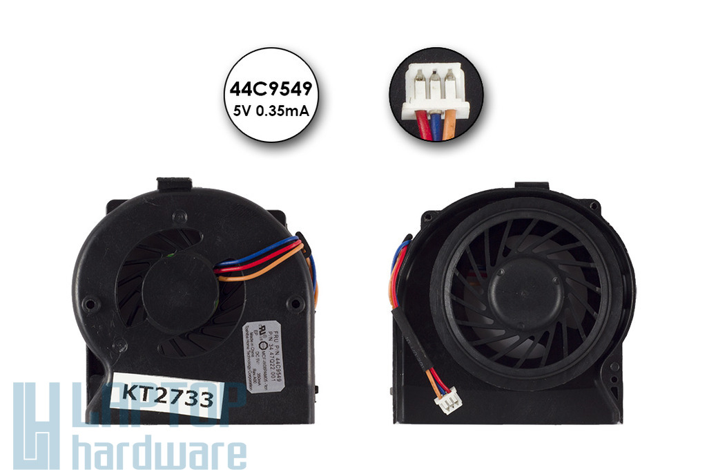 Lenovo ThinkPad X200, X200s, X200t gyári új laptop hűtő ventilátor (44C9549)