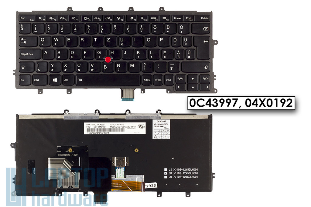 Lenovo ThinkPad X230s, X240 használt magyar laptop billentyűzet (0C43997, 04X0192)