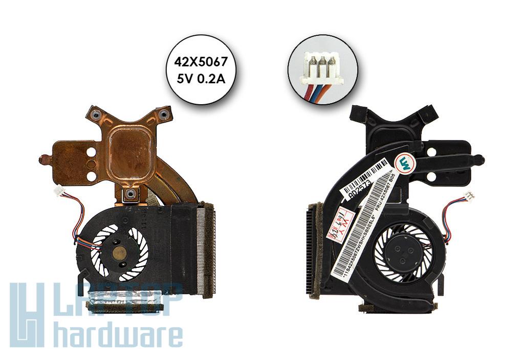 Lenovo ThinkPad X300, X301 használt laptop hűtőegység (42X5067, 44C0747, MCF-220PAM05)
