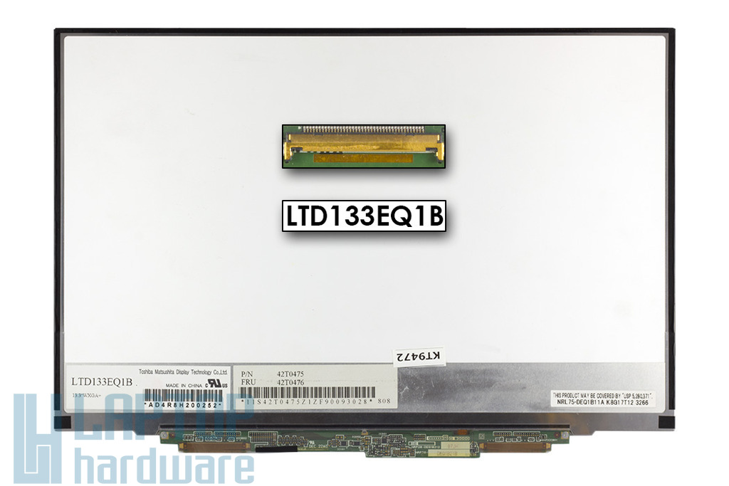 Gyári új matt 13.3'' (1440x900) LED laptop Slim kijelző (csatlakozó: 40 pin - jobb, elöl)