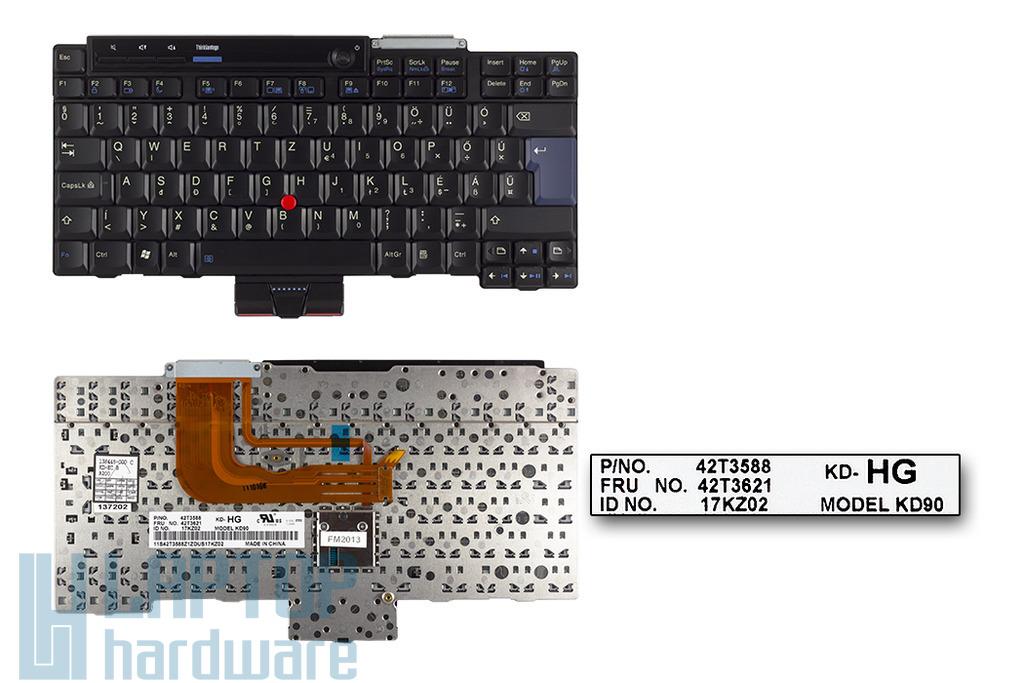 Lenovo ThinkPad X300, X301 magyar laptop billentyűzet, FRU 42T3621