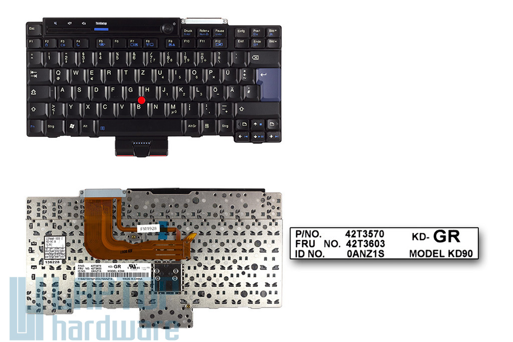 Lenovo ThinkPad X300, X301 német laptop billentyűzet, FRU 42T3603