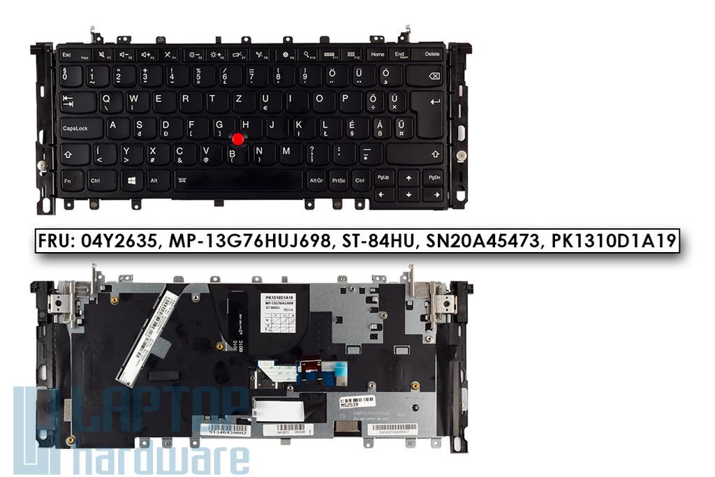 Lenovo ThinkPad Yoga S1, S240 gyári új magyar fekete laptop billentyűzet trackpointtal (04Y2635)