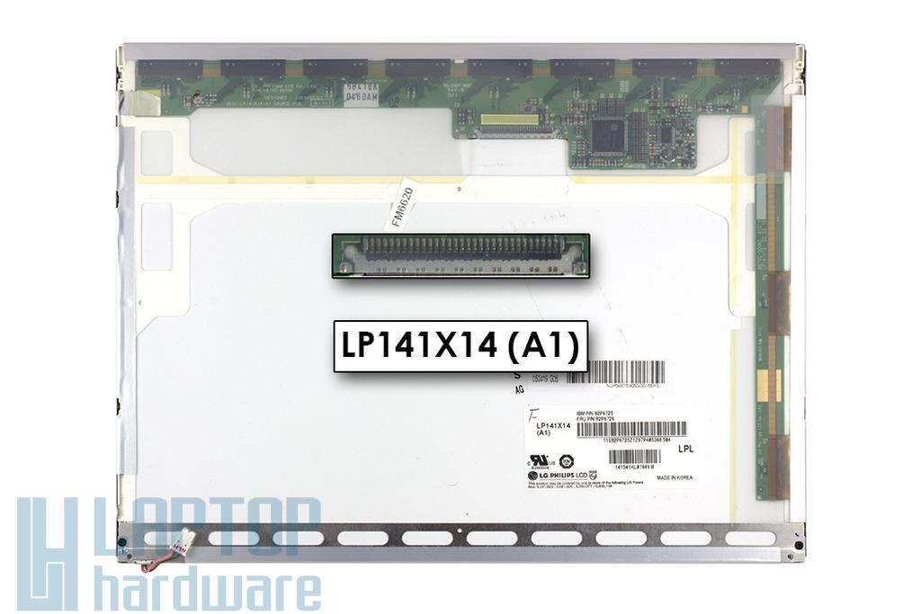 LG LP141X14-A1 14.1'' XGA használt matt laptop kijelző