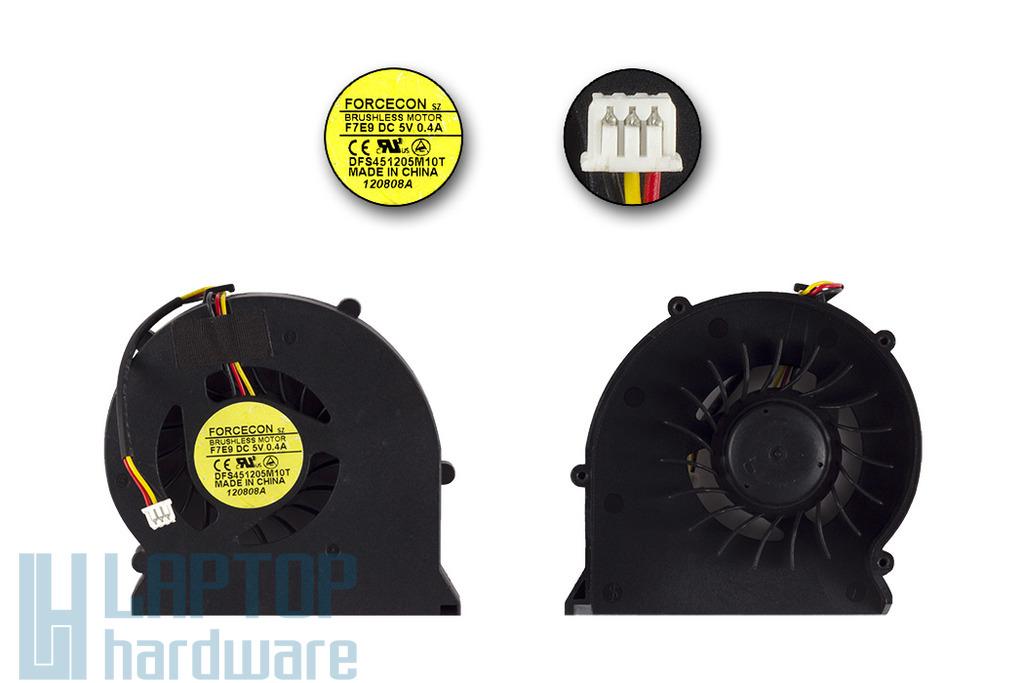LG E500, MSI gyári új laptop hűtő ventilátor (DFS451205M10T, F7E9)