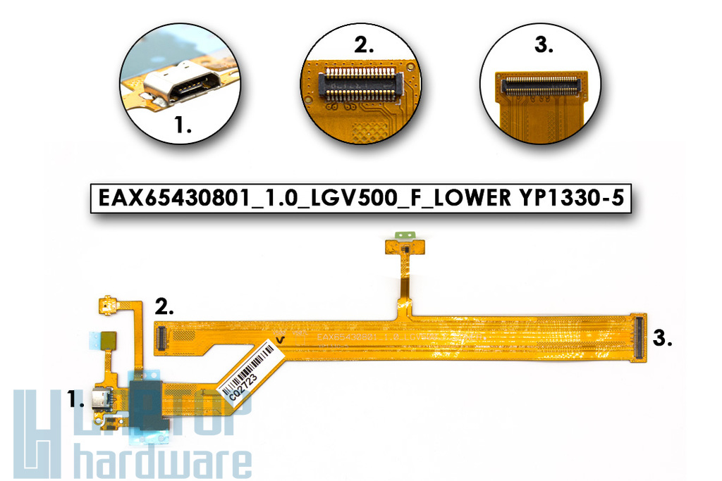 LG G Pad 8.3 (V500) tablethez gyári új USB csatlakozó kábel (EAX65430801_1.0_LGV500_F_LOWER YP1330-5)