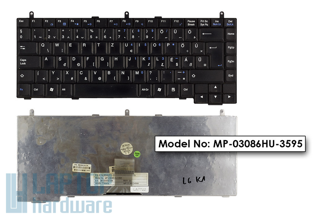 LG K1, MSI MegaBook M660 használt magyar laptop billentyűzet (MP-03086HU-3595)