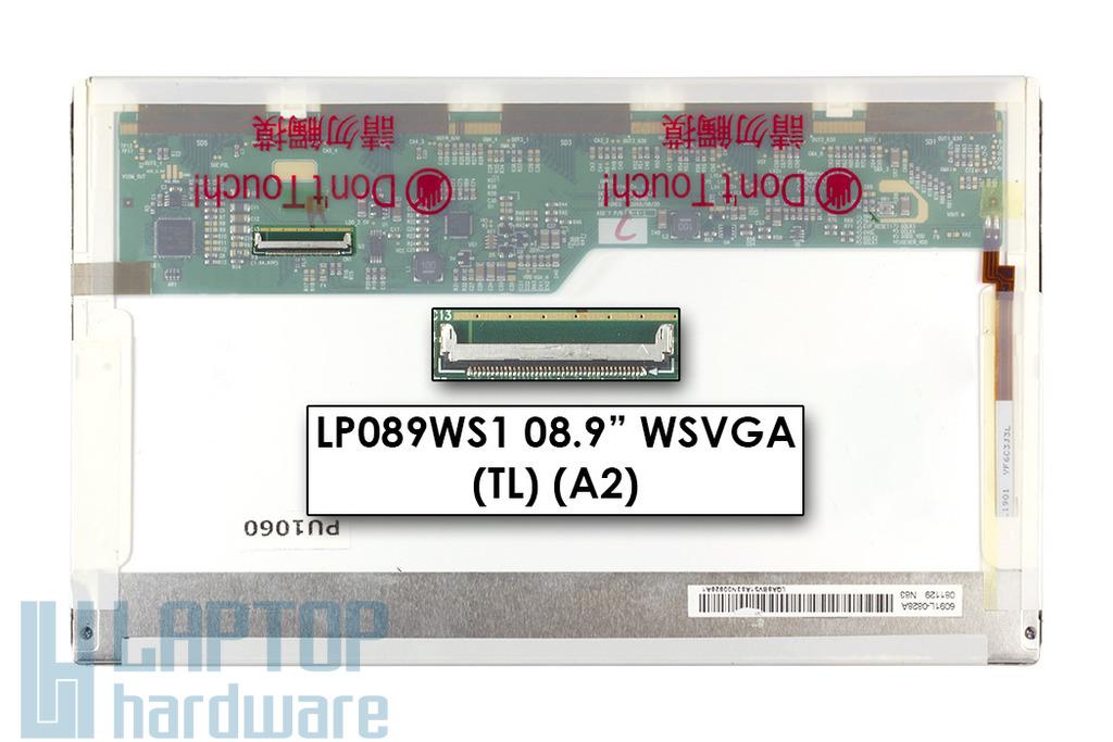 LG LP089WS1 (TL) (A2) használt fényes LED netbook kijelző