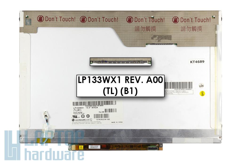 LG LP133WX1-TLB1 13,3 inch használt WXGA CCFL fényes laptop LCD kijelző (30 pines)