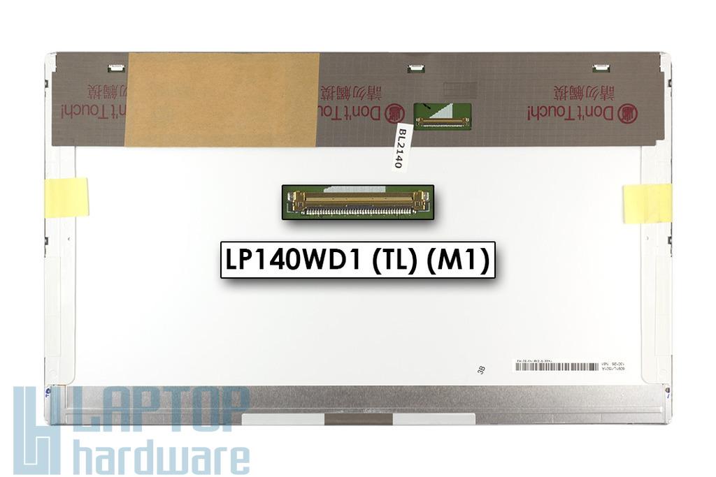 Gyári új matt 14.0'' HD+ (1600x900) LED laptop kijelző (csatlakozó: 40 pin - bal)