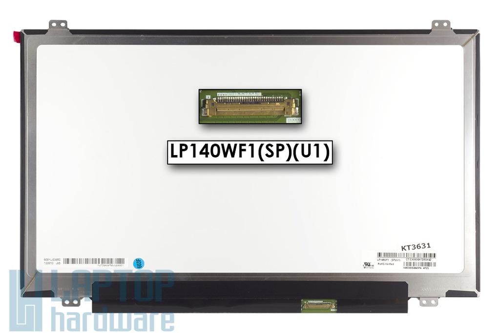 Használt fényes 14.0'' Full HD (1920x1080) LED laptop Slim kijelző (csatlakozó: 30 pin - jobb)