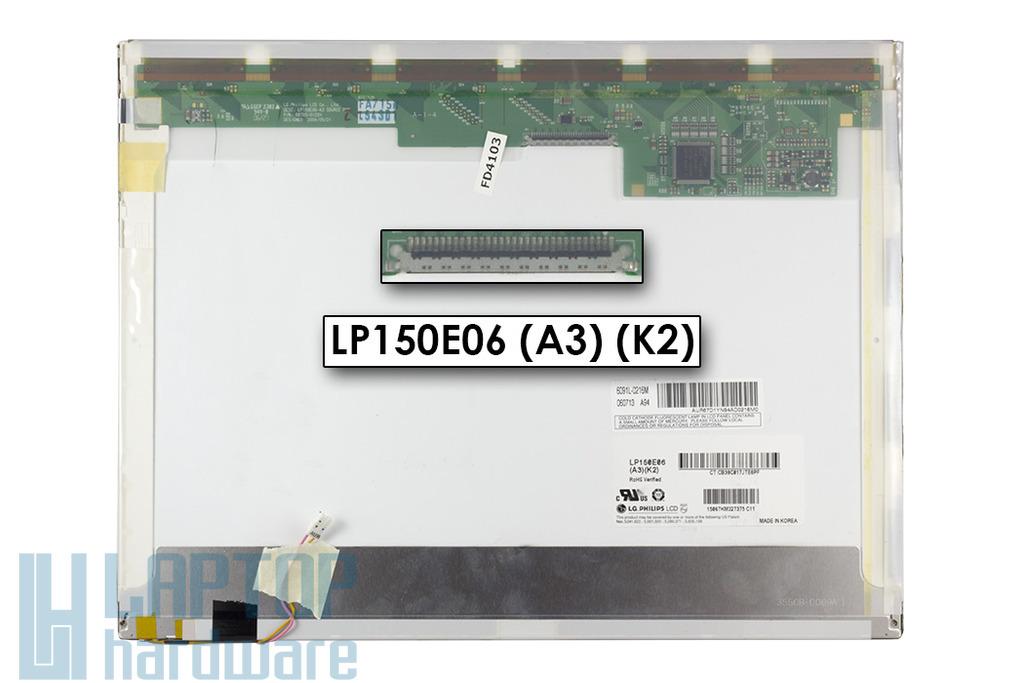 LG LP150E06-A3K2 SXGA+ 1400x1050 használt B kategóriás (csíkos) notebook kijelző