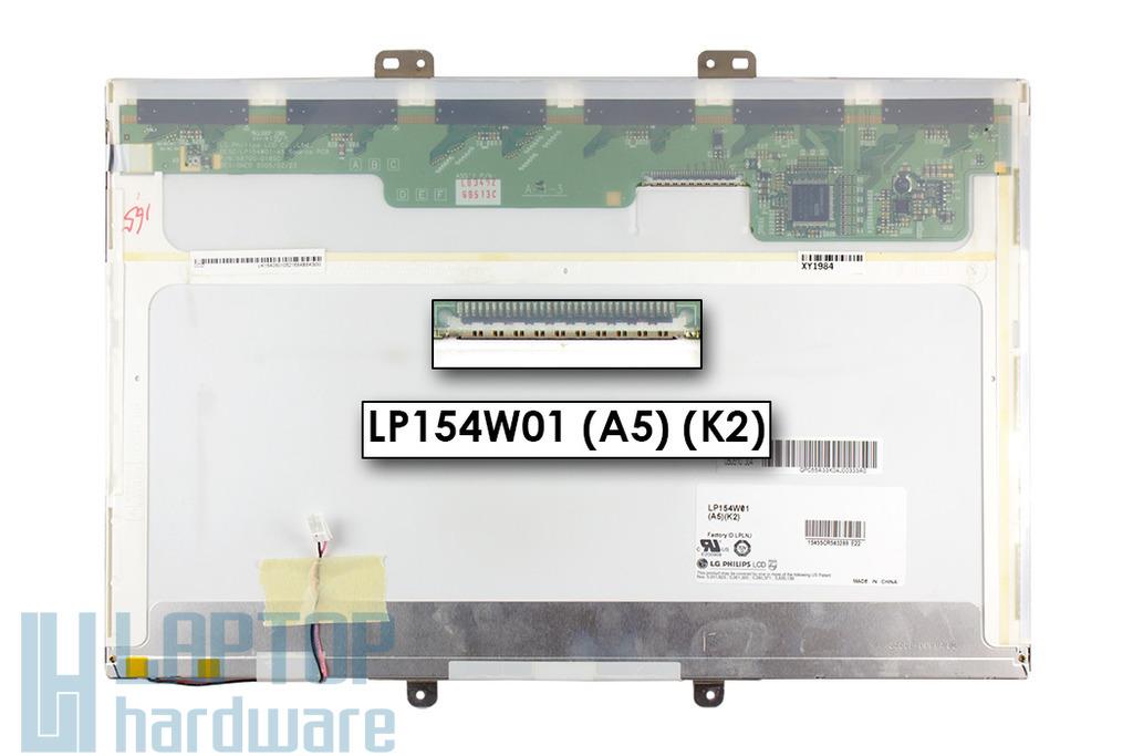 LG LP154W01-A5K2 15,4 inch WXGA CCFL használt fényes laptop kijelző